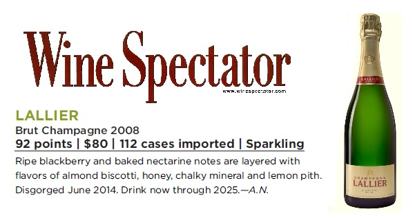 Millésime 2008 rating Wine Spectator